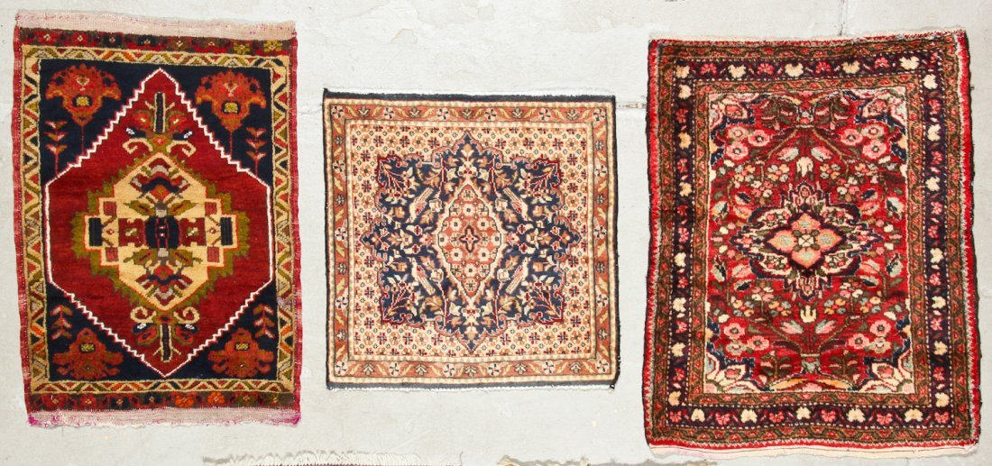 6 Vintage Persian and Turkish Small Rugs - 3