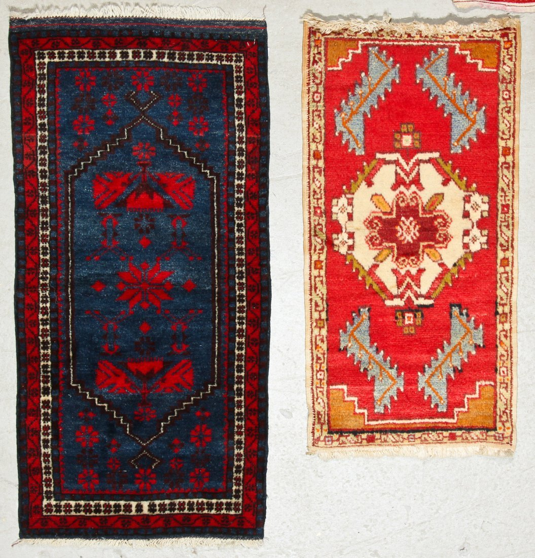 6 Vintage Persian and Turkish Small Rugs - 4