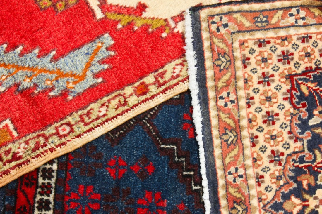 6 Vintage Persian and Turkish Small Rugs - 5