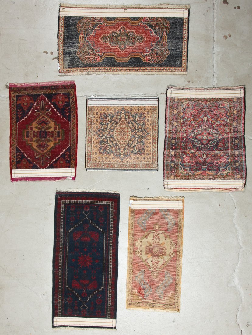 6 Vintage Persian and Turkish Small Rugs - 7