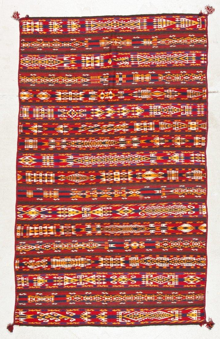 Fine Antique Central Asian Kilim: 5'5'' x 3'4'' (165 x