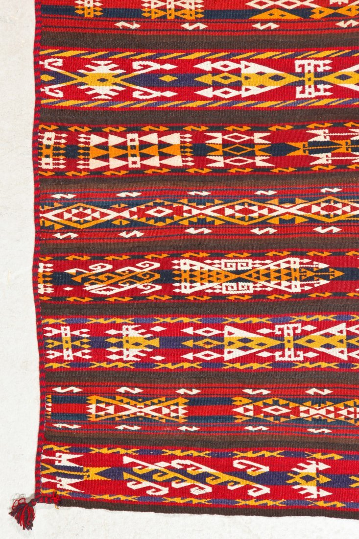 Fine Antique Central Asian Kilim: 5'5'' x 3'4'' (165 x - 2
