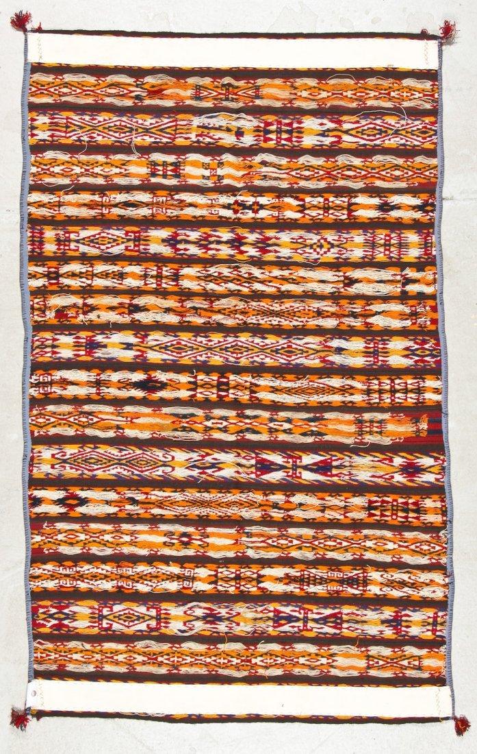 Fine Antique Central Asian Kilim: 5'5'' x 3'4'' (165 x - 4