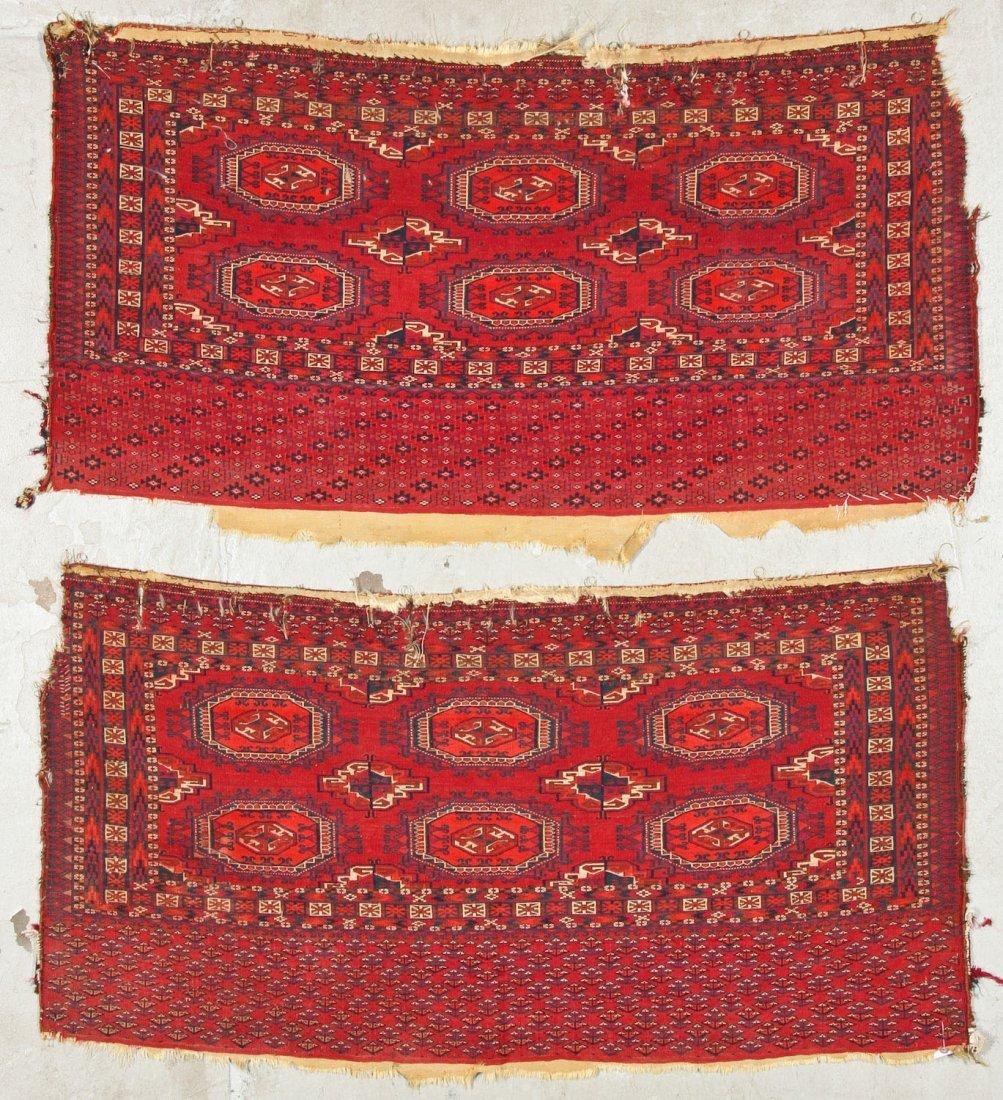 2 Antique Turkmen Salor Juvals - 10