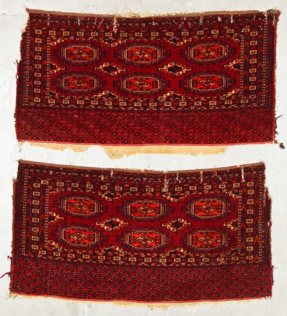 2 Antique Turkmen Salor Juvals