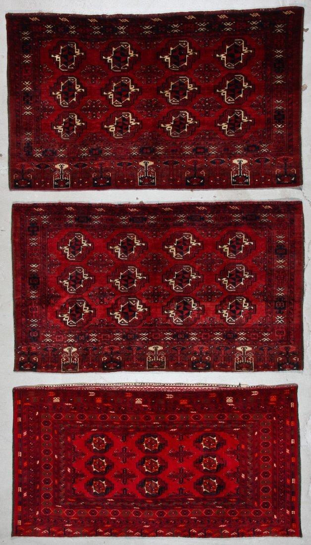 3 Semi-Antique Turkmen Juvals