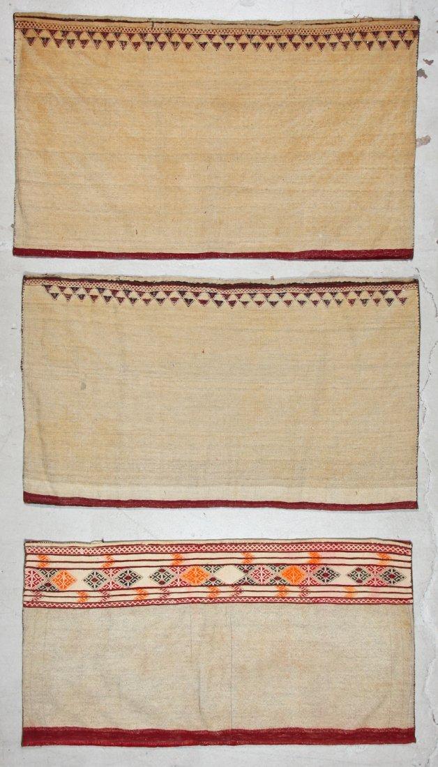 3 Semi-Antique Turkmen Juvals - 8