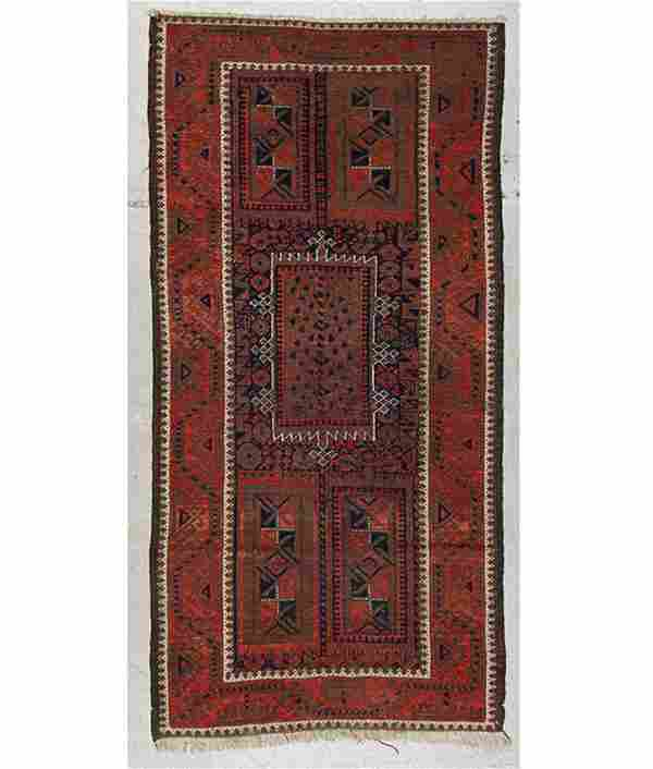 Antique Afghan Beluch Rug: 3'0'' x 5'10'' (91 x 178 cm)