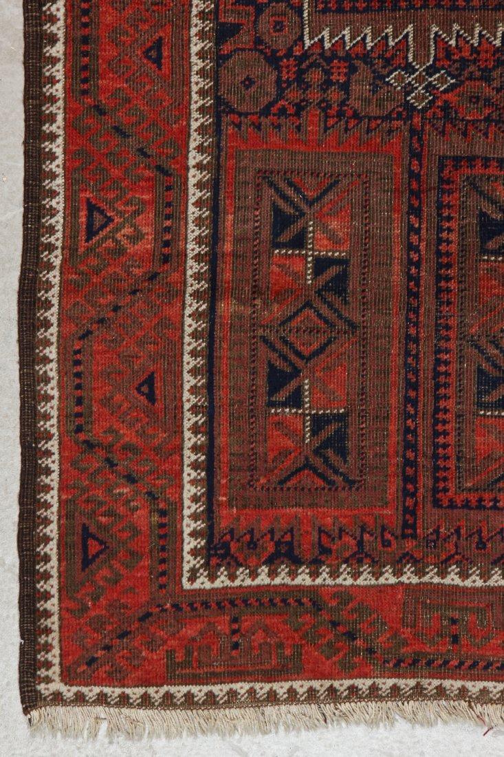 Antique Afghan Beluch Rug: 3'0'' x 5'10'' (91 x 178 cm) - 2
