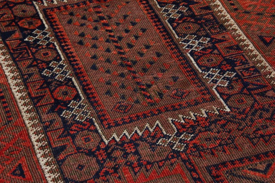 Antique Afghan Beluch Rug: 3'0'' x 5'10'' (91 x 178 cm) - 3