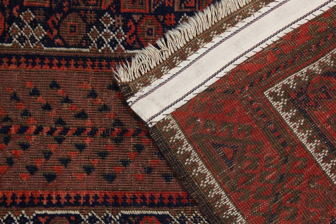 Antique Afghan Beluch Rug: 3'0'' x 5'10'' (91 x 178 cm) - 4