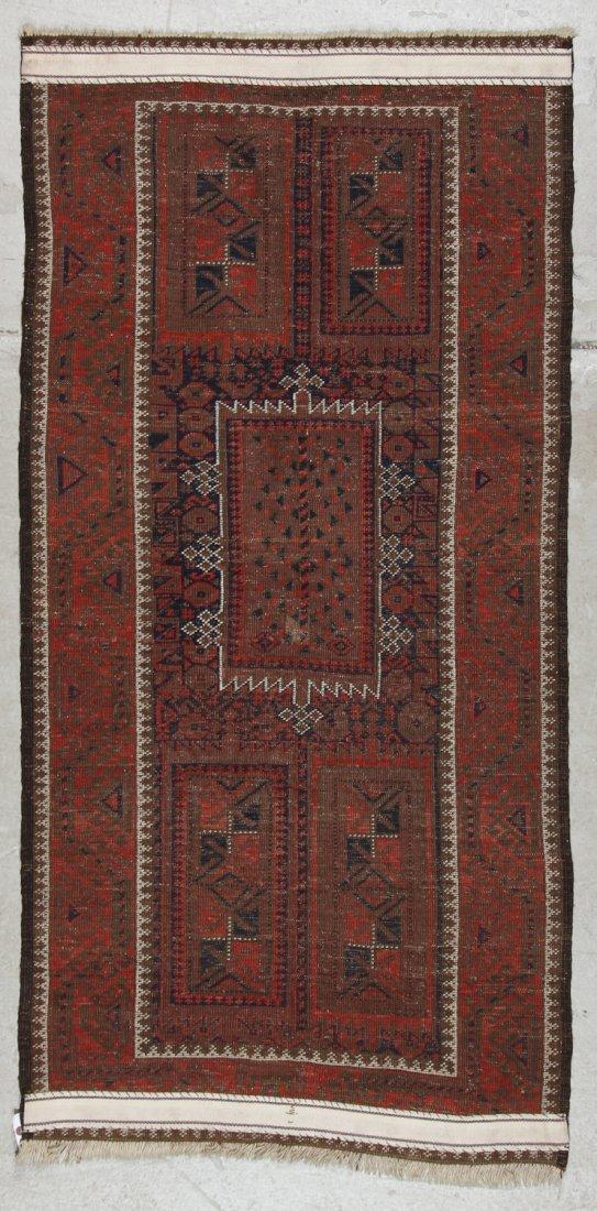 Antique Afghan Beluch Rug: 3'0'' x 5'10'' (91 x 178 cm) - 6