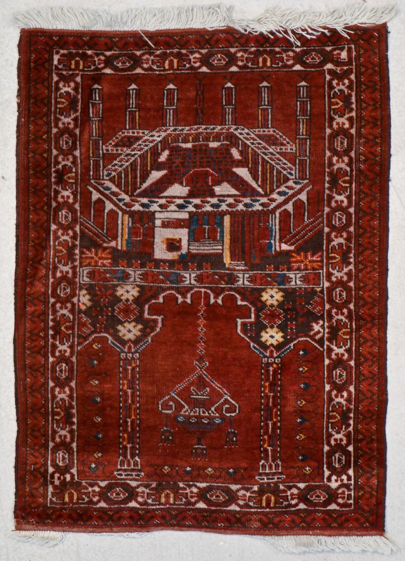 2 Semi-Antique Afghan and Beluch Prayer Rugs - 2