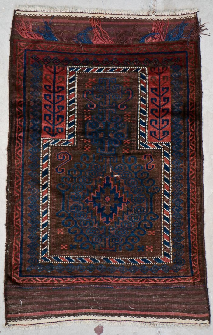 2 Semi-Antique Afghan and Beluch Prayer Rugs - 4