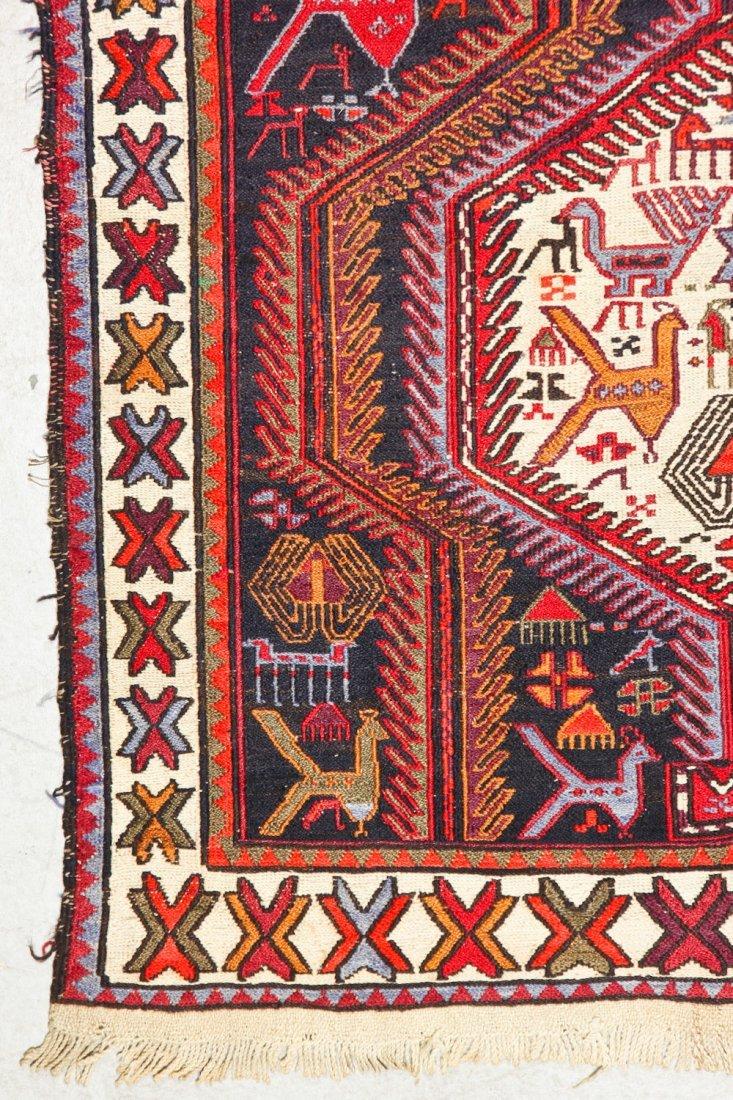 Vintage West Persian Sumak Rug - 6