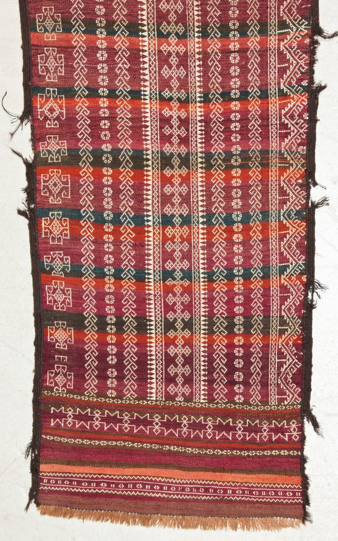 2 Antique Central Asian Kilim Runners - 2