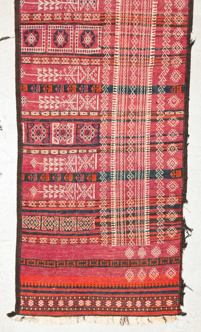 2 Antique Central Asian Kilim Runners - 3