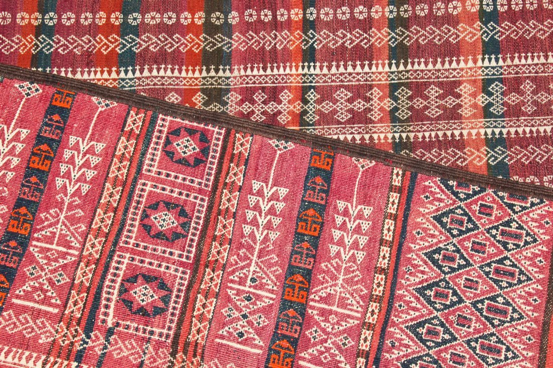 2 Antique Central Asian Kilim Runners - 4