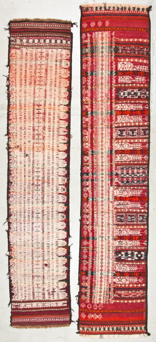 2 Antique Central Asian Kilim Runners - 7