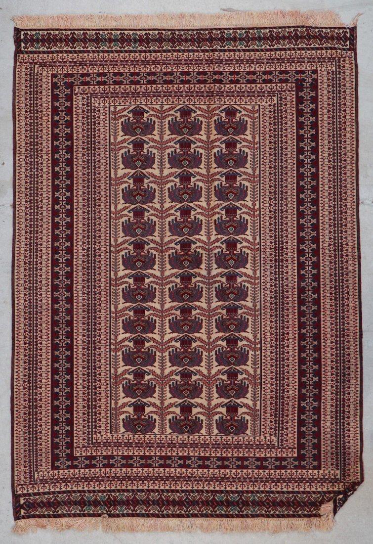 Vintage Sumak Rug: 6' x 4'3'' (183 x 130 cm)
