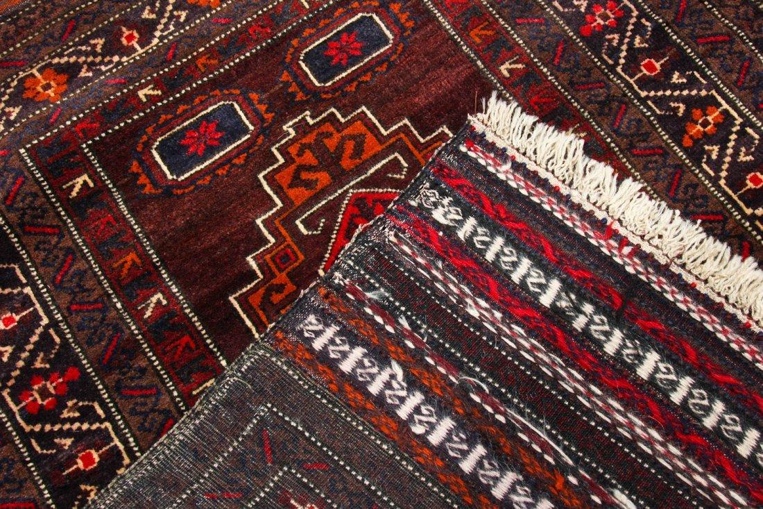 2 Vintage Afghan Mixed Weave Rugs - 5