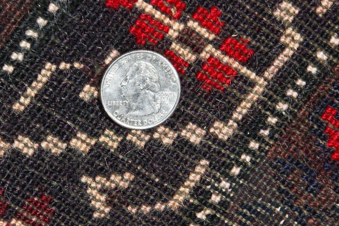 2 Vintage Afghan Mixed Weave Rugs - 6