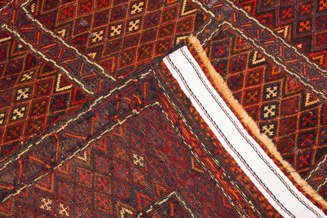 2 Vintage Afghan Mixed Weave Rugs - 7