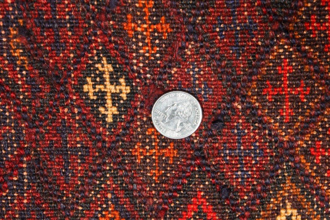 2 Vintage Afghan Mixed Weave Rugs - 8
