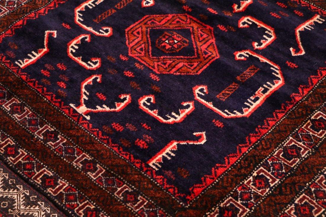 2 Vintage Mixed Weave Afghan Rugs - 5