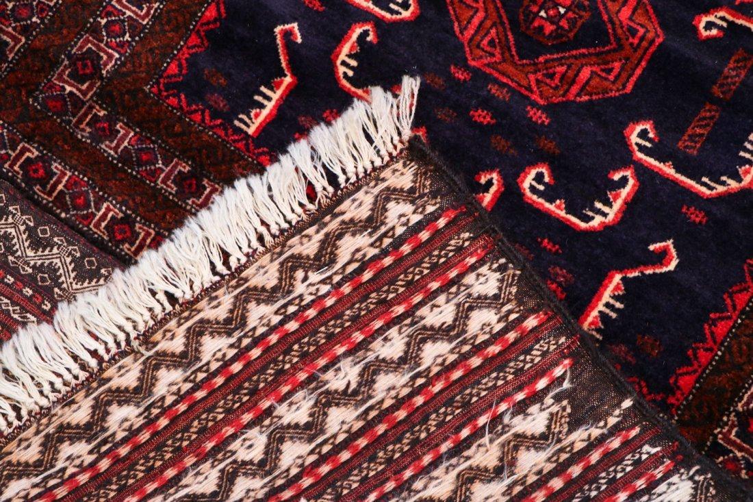 2 Vintage Mixed Weave Afghan Rugs - 6