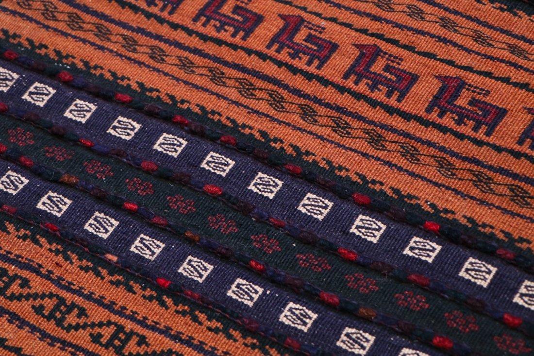 2 Vintage Mixed Weave Afghan Rugs - 7