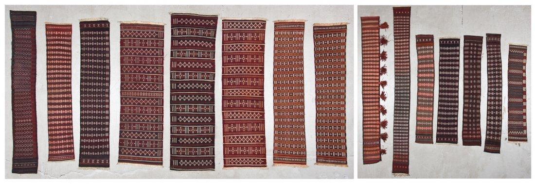 15 Semi-Antique Central Asian Kilims