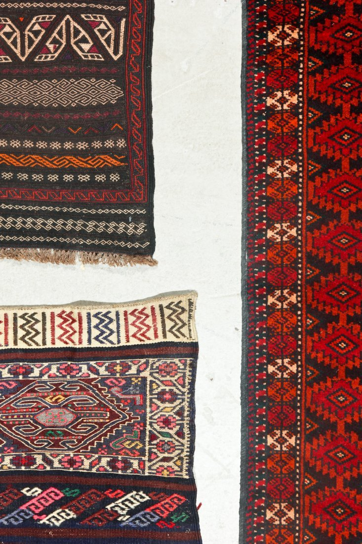 3 Old/Vintage Afghan Flat-Weaves - 5