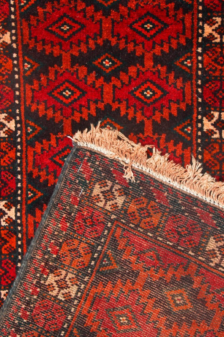 3 Old/Vintage Afghan Flat-Weaves - 8