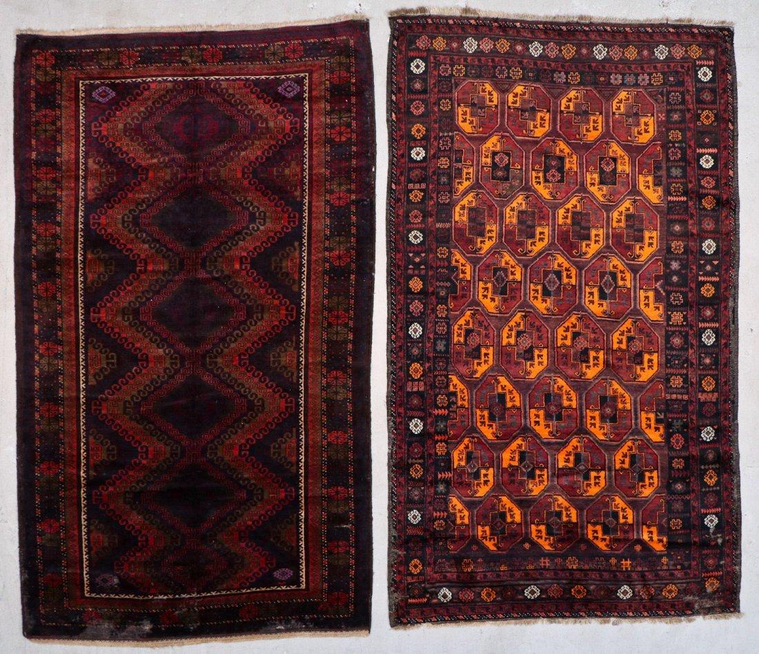 3 Vintage/Semi-Antique Beluch Rugs, Afghanistan - 2
