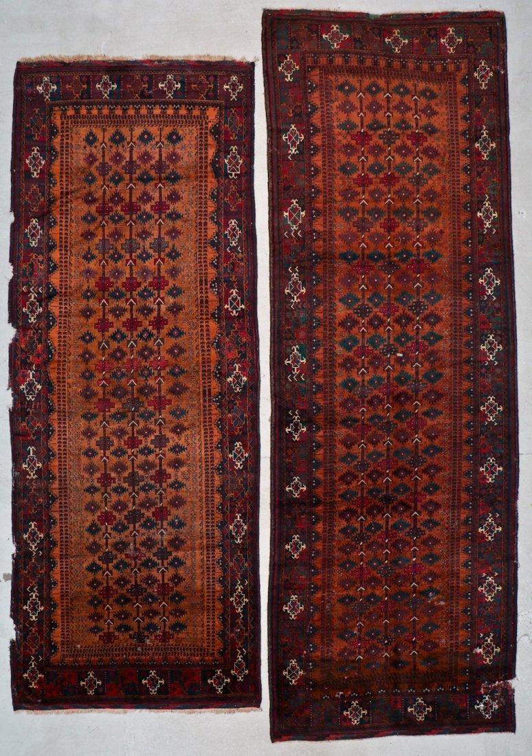 2 Antique Afghan Beluch Rugs