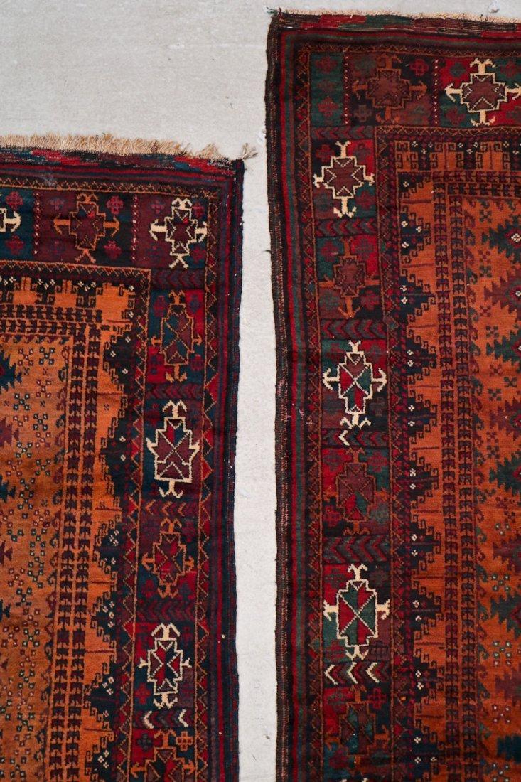 2 Antique Afghan Beluch Rugs - 2