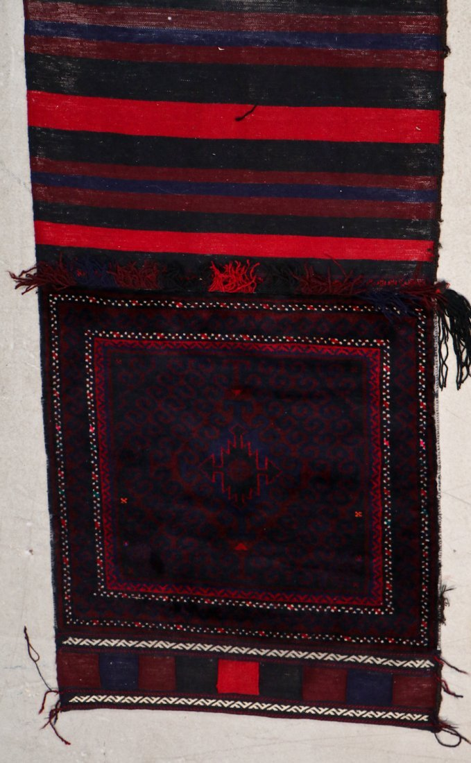3 Semi-Antique Afghan Beluch Double Saddle Bags - 2