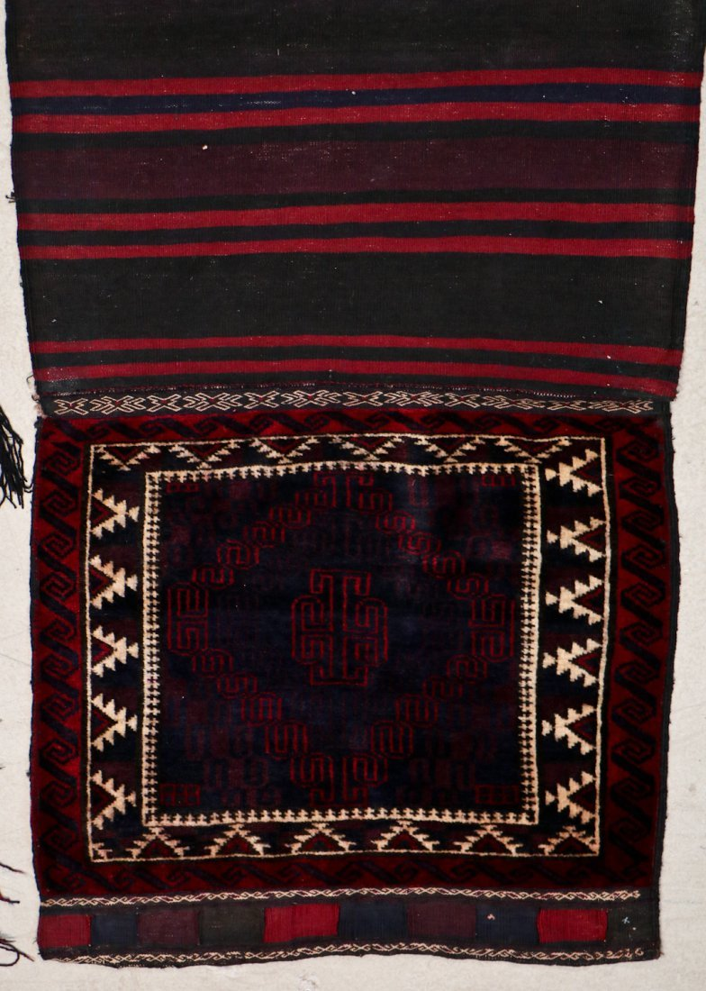 3 Semi-Antique Afghan Beluch Double Saddle Bags - 3