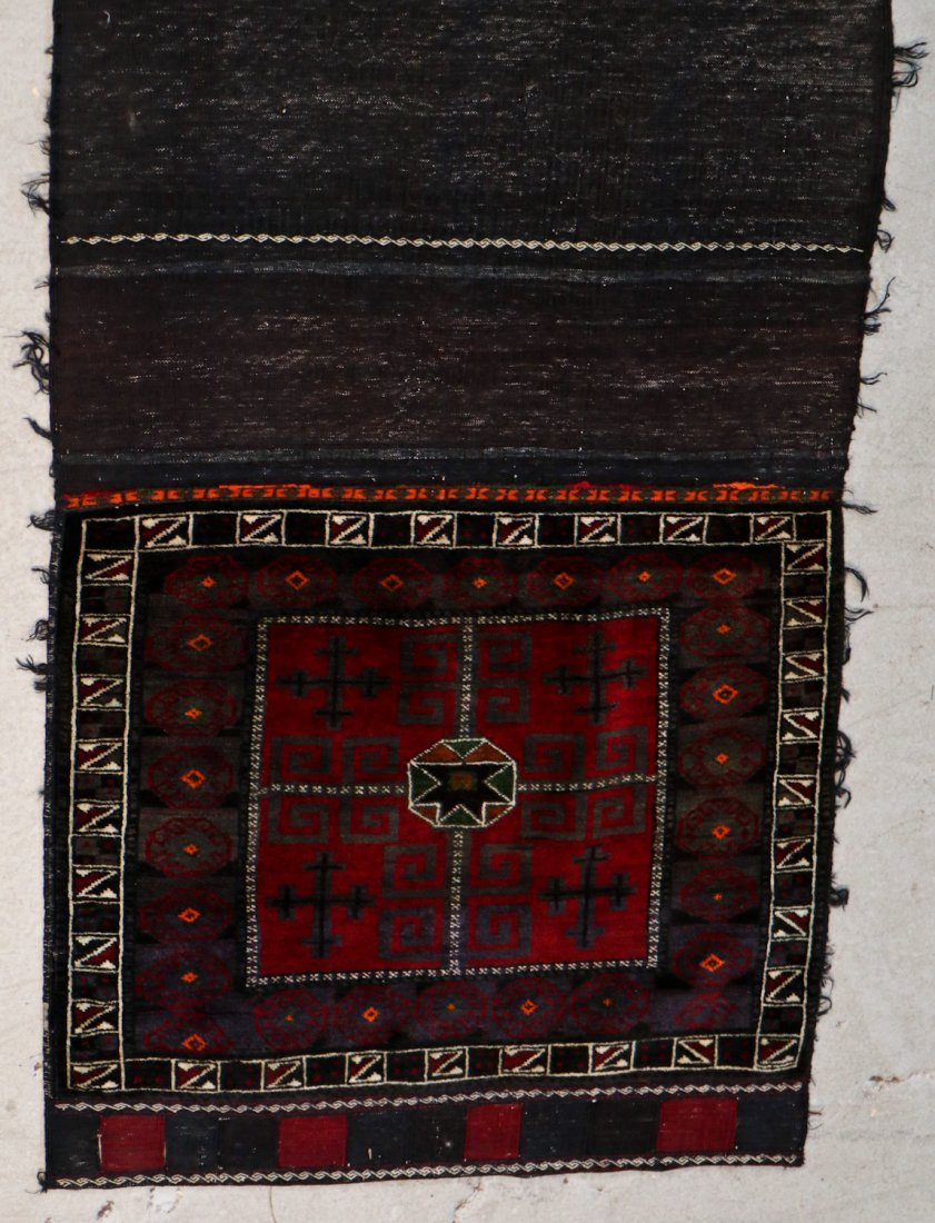3 Semi-Antique Afghan Beluch Double Saddle Bags - 4