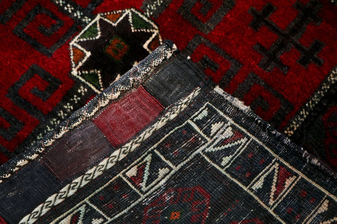 3 Semi-Antique Afghan Beluch Double Saddle Bags - 7
