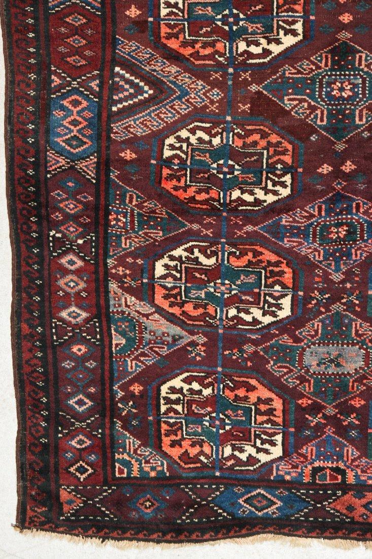 Antique Beluch/Turkmen Rug: 9' x 3'6'' (274 x 107 cm) - 2