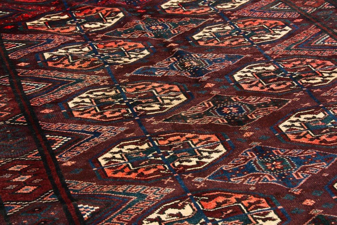 Antique Beluch/Turkmen Rug: 9' x 3'6'' (274 x 107 cm) - 3