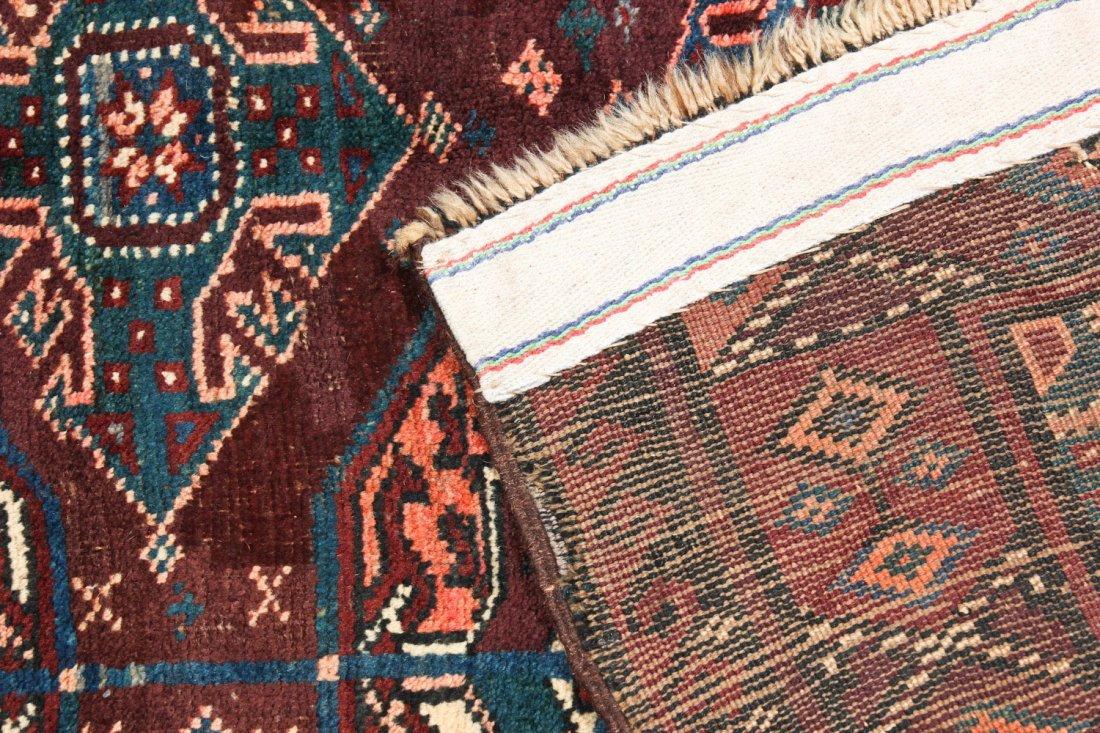 Antique Beluch/Turkmen Rug: 9' x 3'6'' (274 x 107 cm) - 4