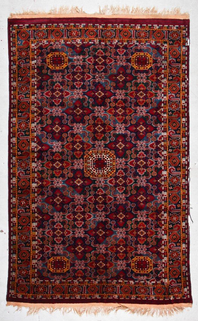 Vintage Afghan Rug: 11'11'' x 7'6'' (363 x 229 cm)