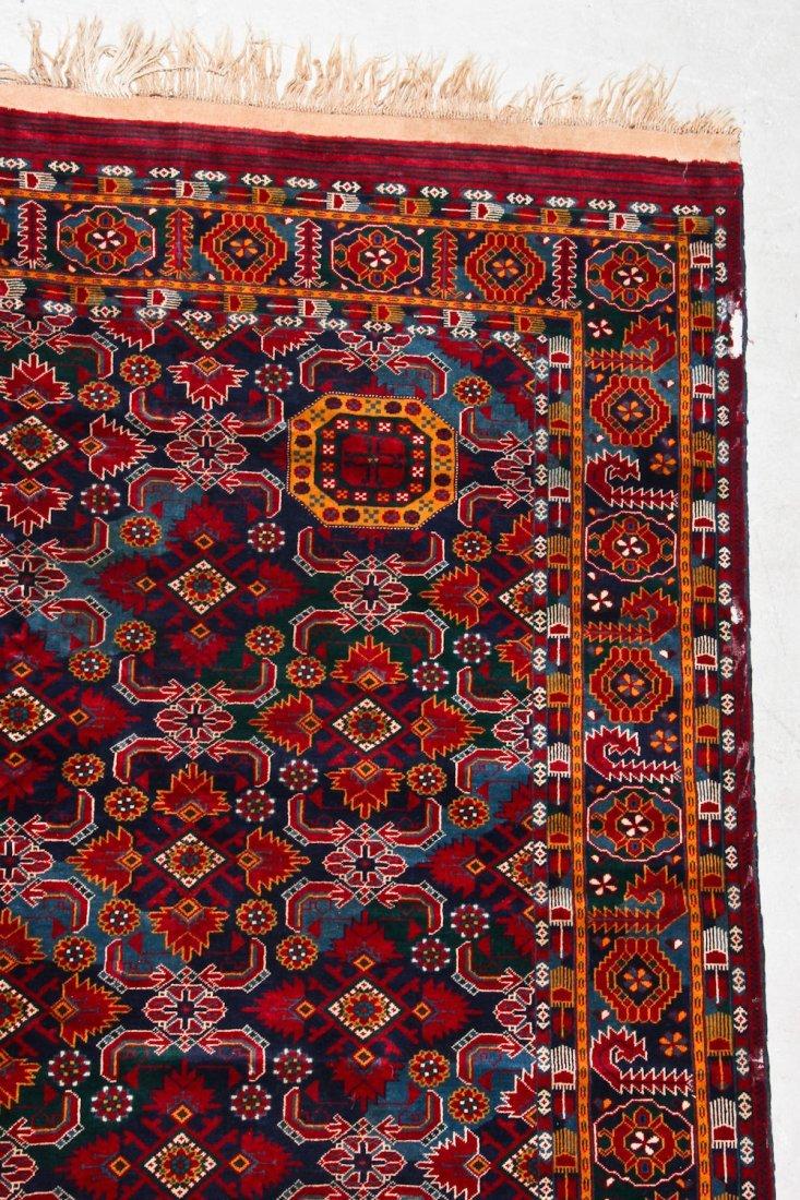 Vintage Afghan Rug: 11'11'' x 7'6'' (363 x 229 cm) - 2