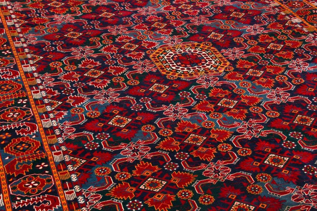 Vintage Afghan Rug: 11'11'' x 7'6'' (363 x 229 cm) - 3