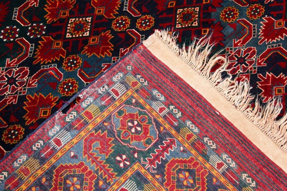 Vintage Afghan Rug: 11'11'' x 7'6'' (363 x 229 cm) - 4