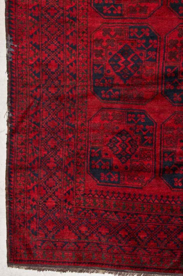2 Semi-Antique Afghan Main Rugs - 3