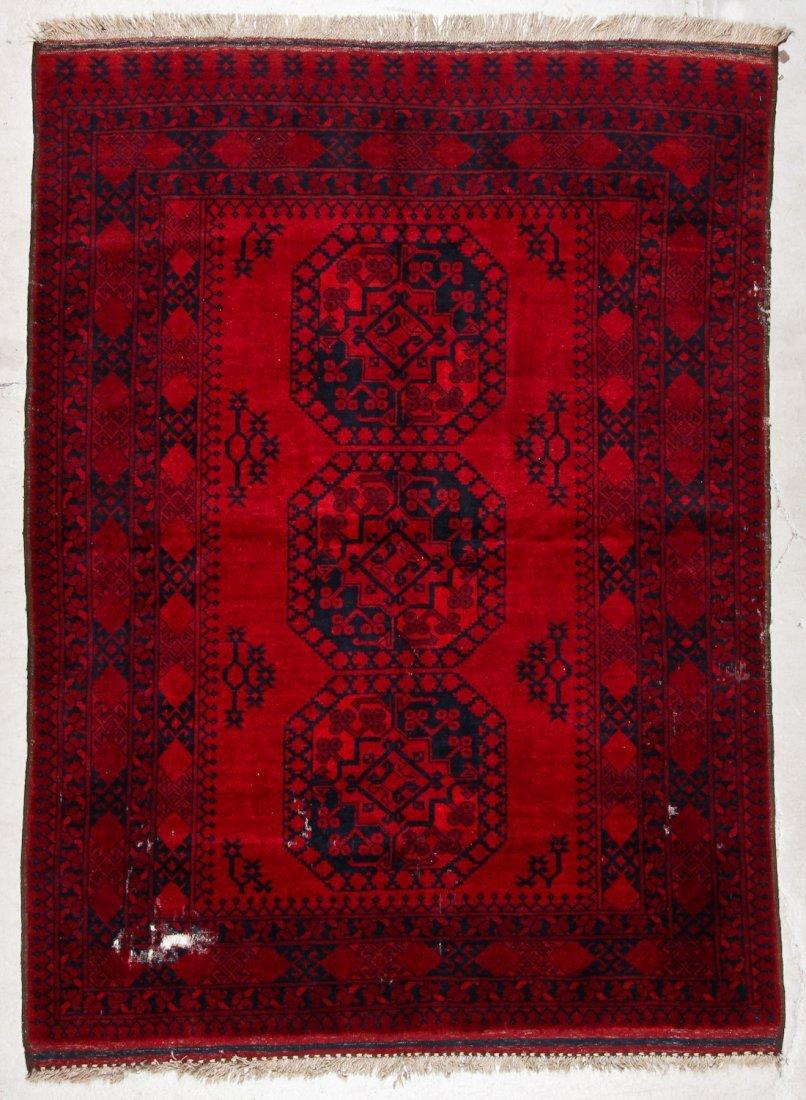 2 Semi-Antique Afghan Main Rugs - 6